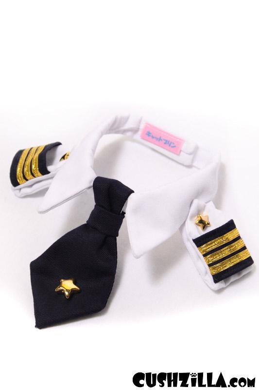 Small Pilot Shirt for Cats u0026 Dogs  sc 1 st  Cushzilla & Cushzilla Captain Kitty Pilot Uniform for Cats and Dogs - SMALL