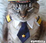 Pilot Shirt for Cats & Dogs - SMALL Captain Kitty / Dog from Cushzilla