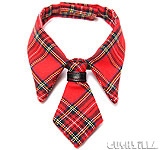 Necktie for Cats / Necktie for Dogs - RED PLAID